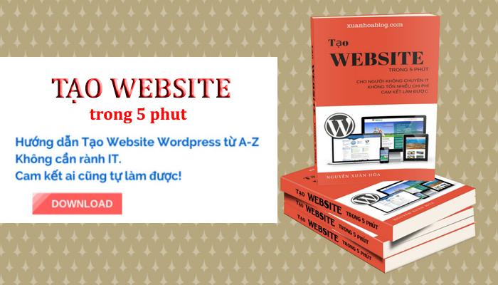 Tạo website trong 5 phút