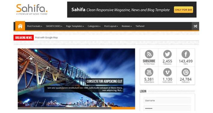 Share theme Sahifa bản quyền tuyệt đẹp