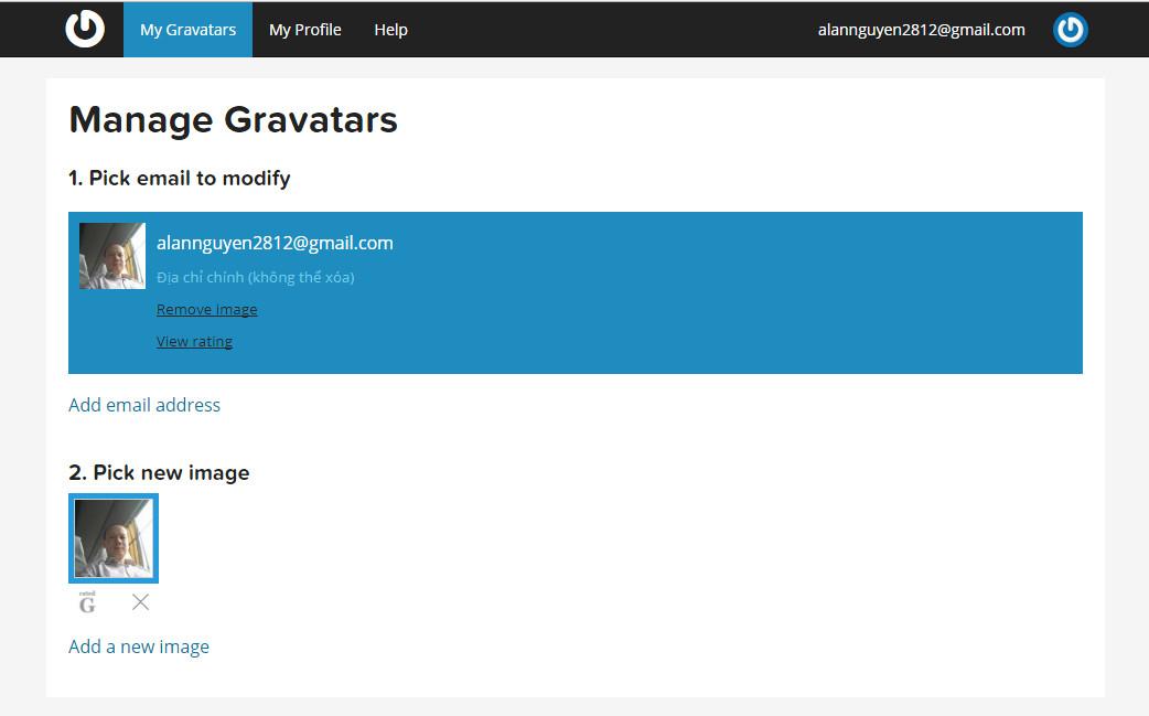 Tăng nhận diện thương hiệu cá nhân - Thêm ảnh Gravatar vào website