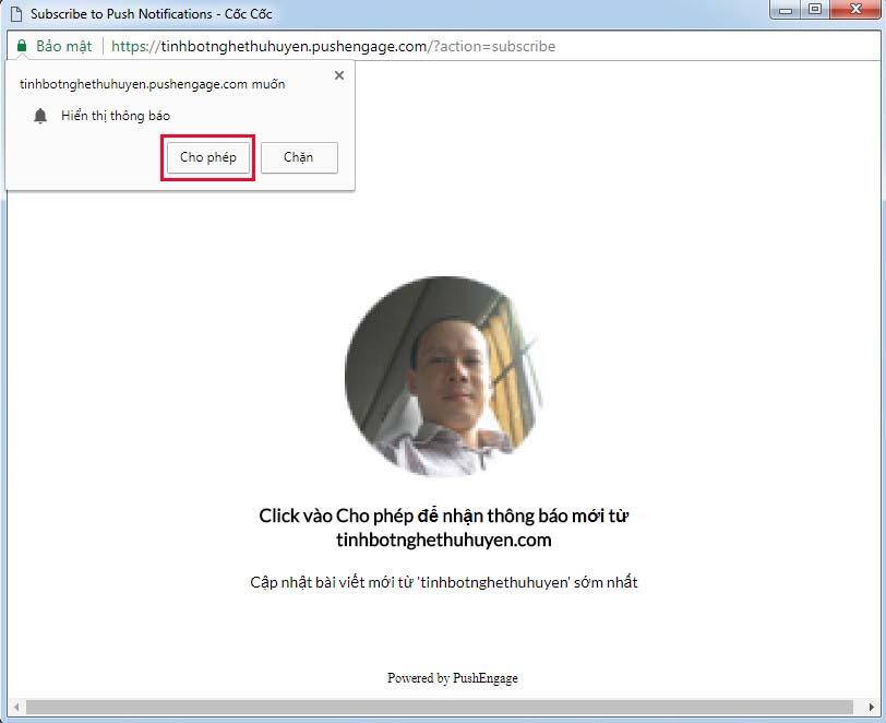 Tạo thông báo đẩy cho Website WordPress