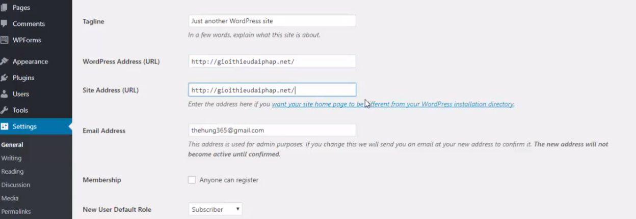 Cài đặt WordPress tự động