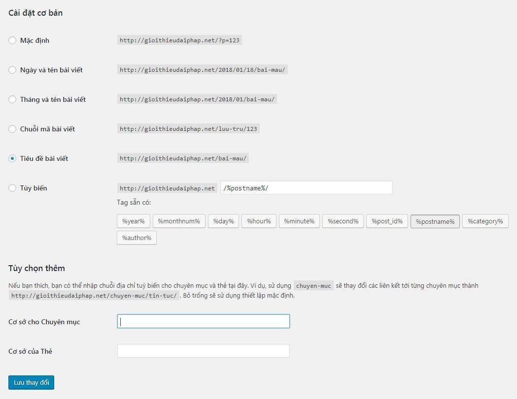 Cấu hình website WordPress sau khi cài đặtCấu hình website WordPress sau khi cài đặt