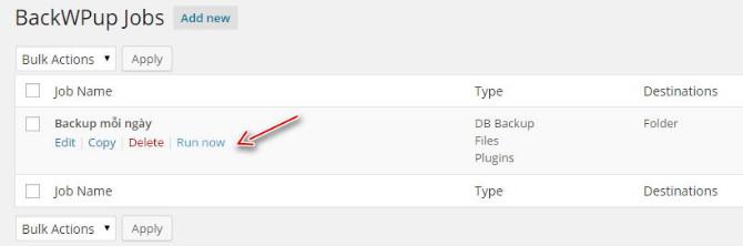 Hướng dẫn sao lưu dữ liệu WordPress với plugin BackWPup