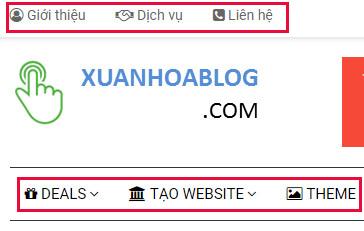 tạo ICON cho menu Website