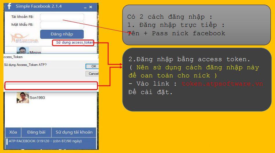 Tải và cài đặt phần mềm Simple Facebook