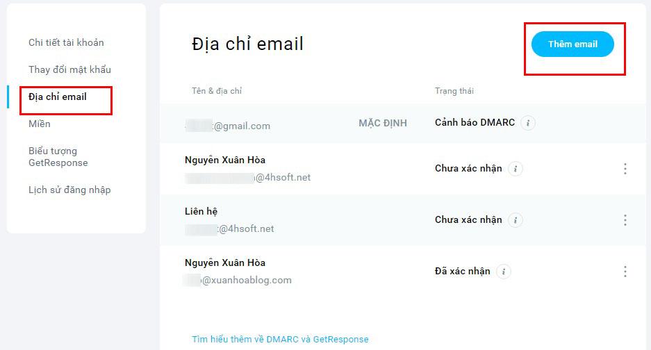 Hướng dẫn sử dụng Email Marketing Getresponse