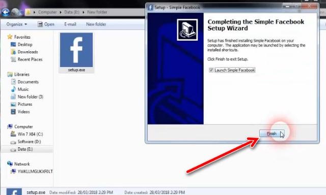 Hướng download và cài đặt phần mềm Simple Facebook