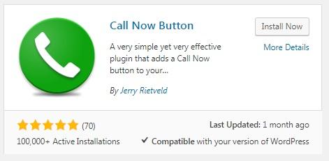 Tạo nút Call Now trong WordPress