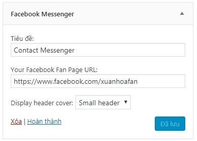 Hướng dẫn tích hợp Facebook Chat vào website WordPress