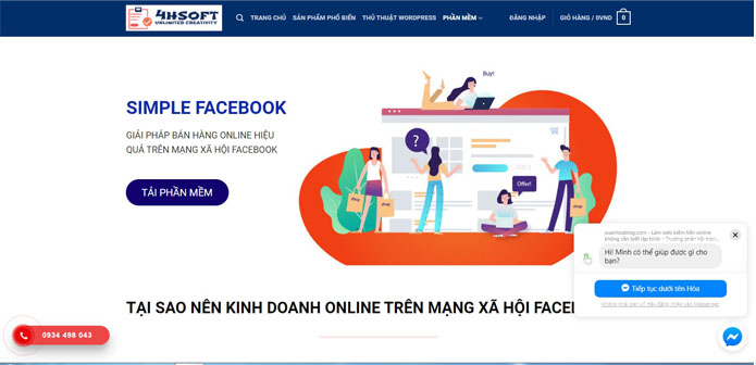 cài đặt Simple Facebook